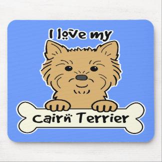 Amo mi mojón Terrier Tapetes De Ratones