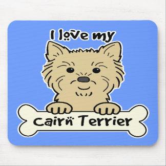 Amo mi mojón Terrier Alfombrilla De Ratones