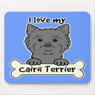 Amo mi mojón Terrier Tapete De Raton
