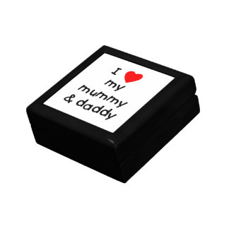 Amo mi momia y papá caja de joyas
