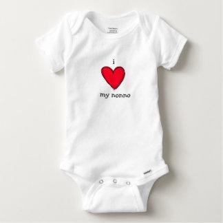 amo mi mono italiano del bebé del abuelo del nonno camisas