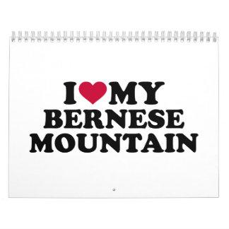 Amo mi montaña de Bernese Calendario De Pared