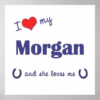 Amo mi Morgan (el caballo femenino) Póster