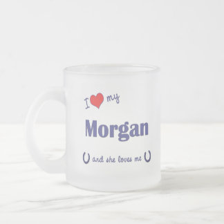 Amo mi Morgan (el caballo femenino) Taza De Cristal