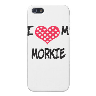 Amo mi Morkie iPhone 5 Funda