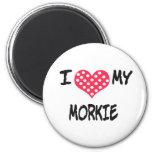 Amo mi Morkie Imán Para Frigorifico