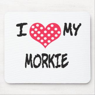 Amo mi Morkie Alfombrillas De Ratón