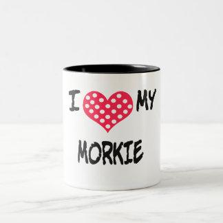 Amo mi Morkie Taza Dos Tonos
