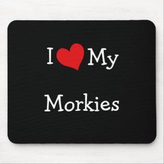 Amo mi Morkies Alfombrilla De Ratón