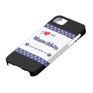 Amo mi Munchkin (el gato femenino) iPhone 5 Funda