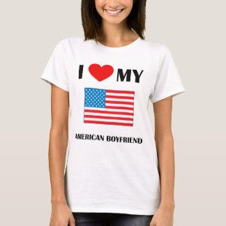 Amo mi muñeca americana de las señoras del novio playera