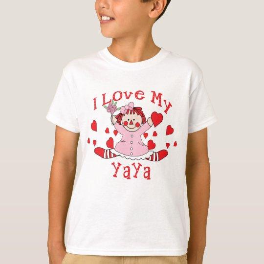 Amo mi muñeca y corazones de trapo de YaYa Playera