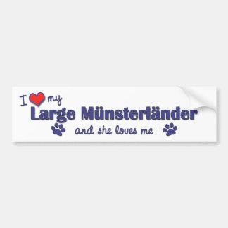 Amo mi Munsterlander grande (el perro femenino) Pegatina Para Auto