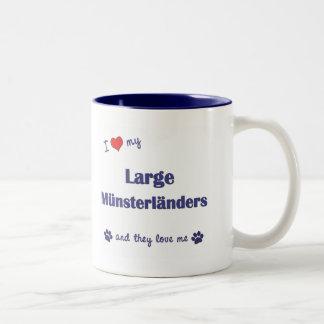 Amo mi Munsterlanders grande (los perros Taza De Café De Dos Colores