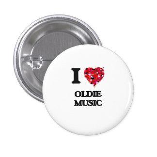 Amo mi MÚSICA del OLDIE Pin Redondo 2,5 Cm