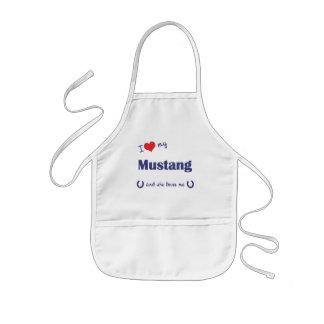 Amo mi mustango (el caballo femenino) delantal