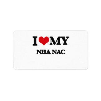 Amo mi NAC de NHA Etiqueta De Dirección