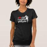 Amo mi negro del jugador del rugbi camisetas