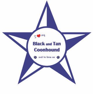 Amo mi negro y bronceo el Coonhound (el perro masc Escultura Fotográfica