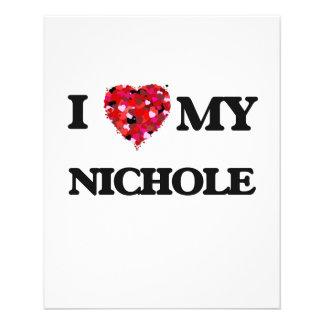 "Amo mi Nichole Folleto 4.5"" X 5.6"""