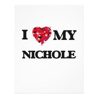"Amo mi Nichole Folleto 8.5"" X 11"""