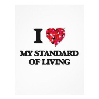 """Amo mi nivel de vida folleto 8.5"""" x 11"""""""