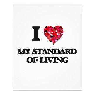 """Amo mi nivel de vida folleto 4.5"""" x 5.6"""""""