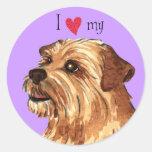 Amo mi Norfolk Terrier Etiqueta Redonda