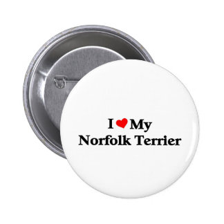 Amo mi Norfolk Terrier Pin