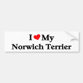 amo mi Norwich Terrier Pegatina Para Auto