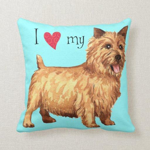 Amo mi Norwich Terrier Cojin