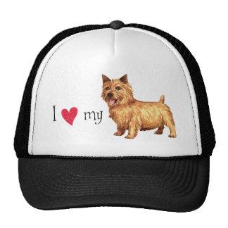 Amo mi Norwich Terrier Gorras De Camionero
