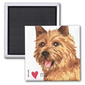 Amo mi Norwich Terrier Imán Cuadrado