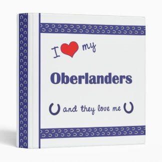 Amo mi Oberlanders (los caballos múltiples)
