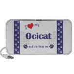 Amo mi Ocicat (el gato femenino) Notebook Altavoces