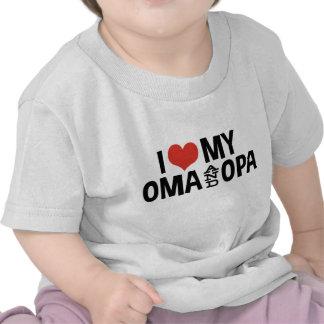 Amo mi Oma y Opa Camiseta