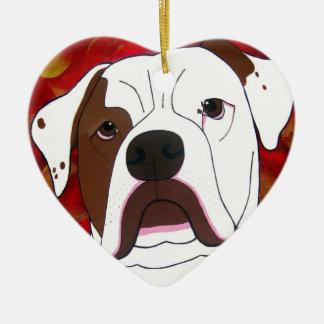 Amo mi ornamento americano del perro de Bull Adorno De Reyes