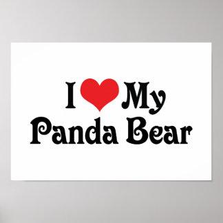 Amo mi oso de panda posters