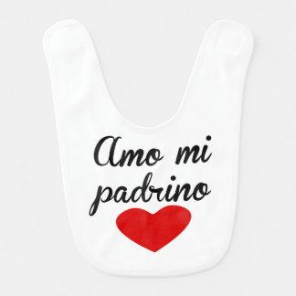 Amo MI Padrino Babero De Bebé
