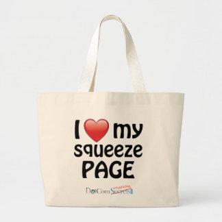 Amo mi página del apretón bolsas de mano
