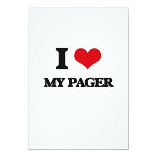 """Amo mi paginador invitación 3.5"""" x 5"""""""
