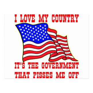 Amo mi país que es el gobierno que Pisses Postal