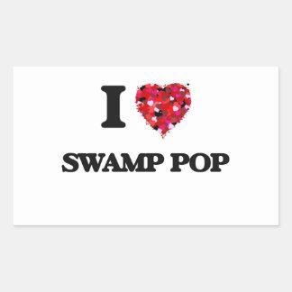 Amo mi PANTANO POP Pegatina Rectangular