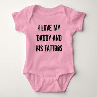 Amo mi papá y sus tatuajes mameluco de bebé