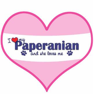 Amo mi Paperanian (el perro femenino) Adorno Fotoescultura