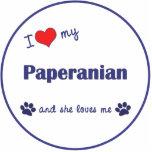 Amo mi Paperanian (el perro femenino) Escultura Fotográfica