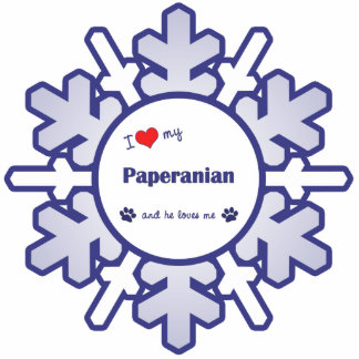 Amo mi Paperanian (el perro masculino) Adorno Fotoescultura