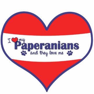 Amo mi Paperanians (los perros múltiples) Adorno Fotoescultura