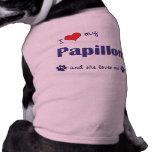 Amo mi Papillon (el perro femenino) Ropa Para Mascota
