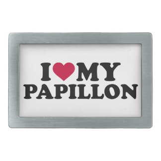 Amo mi Papillon Hebillas Cinturon Rectangulares